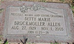 Betty Marie <i>Brockmoller</i> Allen