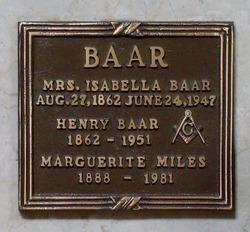 Marguerite B <i>Baar</i> Miles
