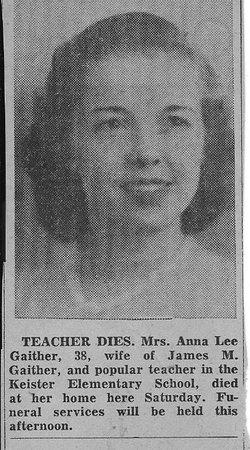 Anna Lee <i>Fry</i> Gaither