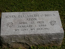 Mary Elizabeth <i>O'Brien</i> Aton