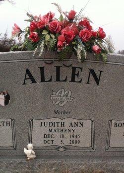 Judith Ann <i>Matheny</i> Allen