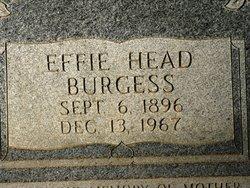 Effie <i>Head</i> Burgess