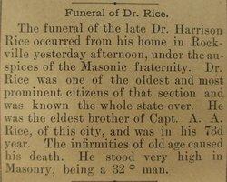 Dr Harrison J. Rice