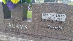 Evelyn <i>Liles</i> Adams