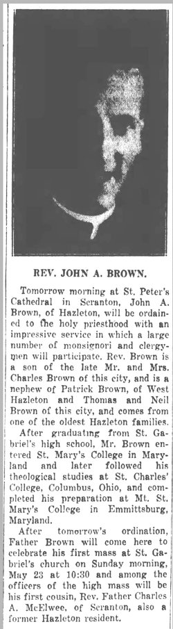 Rev John Aloysius Brown