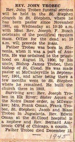 Fr John Trobec