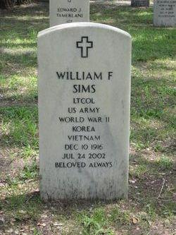 LTC William F. Sims