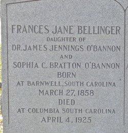 Frances Jane <i>O'Bannon</i> Bellinger