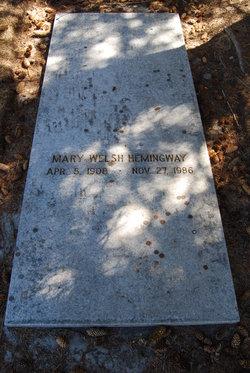 Mary <i>Welsh</i> Hemingway
