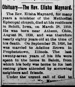 Rev Elisha Levi Maynard