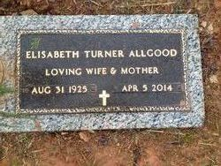 Elisabeth Lib <i>Turner</i> Allgood