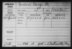 Sgt George Mansfield Bunten