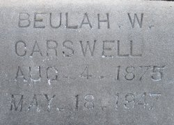 Beulah <i>White</i> Carswell