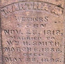 Martha A <i>Weathers</i> Smith