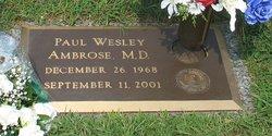 Dr Paul Wesley Ambrose