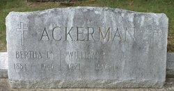 Bertha M <i>Ellsworth</i> Ackerman