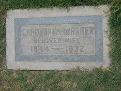 Caroline Carrie <i>Wolcott</i> Archer