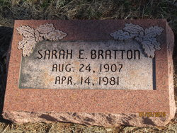 Sarah Elvara Eliz <i>Wright</i> Bratton