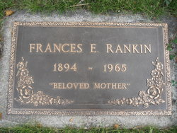 Frances E. <i>McGregor</i> Rankin