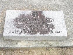 PFC Leroy Hastings