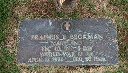 PFC Francis Eugene Beckman