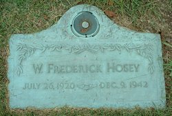 Sgt William Frederick Fred Hosey