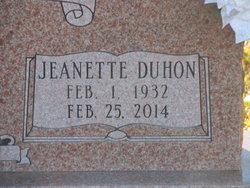 Jeanette <i>Duhon</i> Lincecum