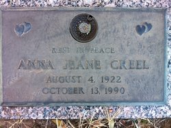 Anna Jeane <i>Wolfe</i> Creel