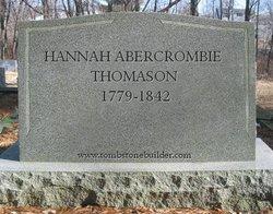 Hannah <i>Abercrombie</i> Thomason