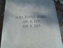 Alma <i>Raines</i> Hobby