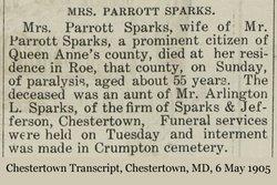 Mary F Sparks