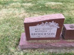 Matilda <i>Olson</i> Broderson
