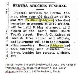 Bertha E Ahlgren