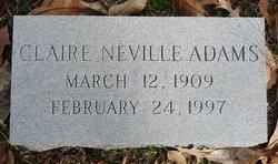 Claire <i>Neville</i> Wheeler Adams