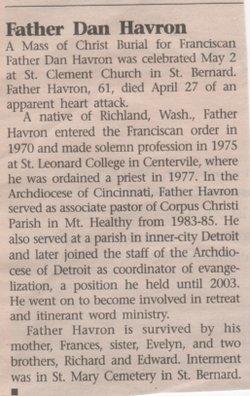 Rev Fr Daniel Michael Havron