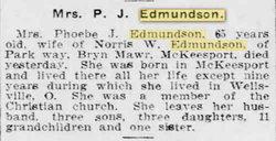 Phoebe J. <i>Longabaugh</i> Edmundson