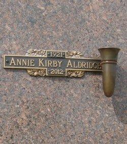 Annie Lee <i>Kirby</i> Aldridge