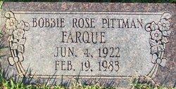 Bobbie Rose <i>Pittman</i> Farque