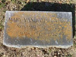Mary <i>Vanham</i> Bunting