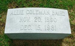 Allie <i>Coleman</i> Baird