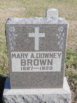 Mary A <i>Downey</i> Brown