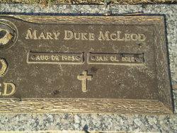 Mary Duke <i>McLeod</i> Reed