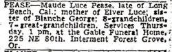 Maud Estella <i>Abbey</i> Pease