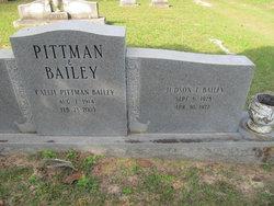 Callie <i>Pittman</i> Bailey