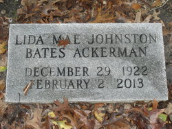 Lida Mae <i>Johnston</i> Ackerman