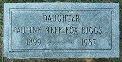Pauline Neff <i>Fox</i> Biggs