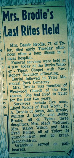 Bessie <i>Hall</i> Brodie