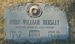 Ruby William Hensley