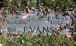 Ruby Leighton <i>Scates</i> Evans