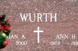 Ann H Wurth
